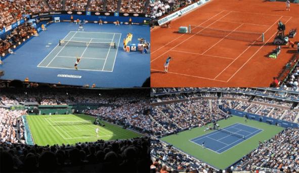 surface tennis court